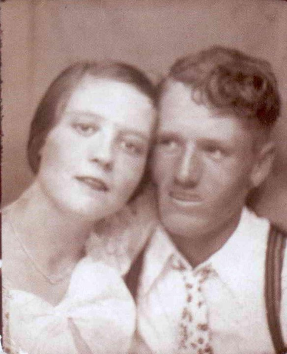 Gladys and Vernon Presley